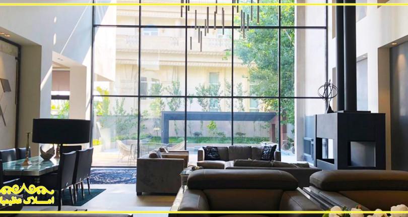 املاک عظیمیان - آپارتمان ویلایی 550 متر - گلستان شمالی
