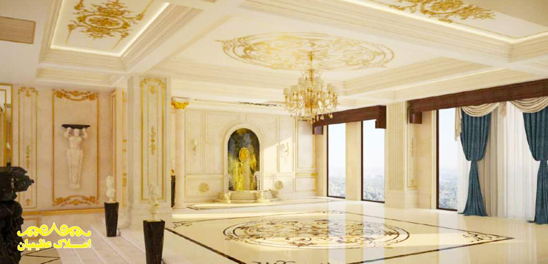 فروش آپارتمان در فرمانیه شرقی - 270 متر - (نوساز)-املاک عظیمیان - خرید و فروش